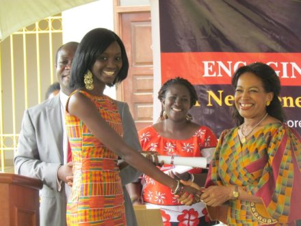 Graduating from the 2012 MILEAD Institute in Accra
